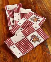 Linda Spivey Hearts And Stars Checkered Table Linen Napkins Country Inspired