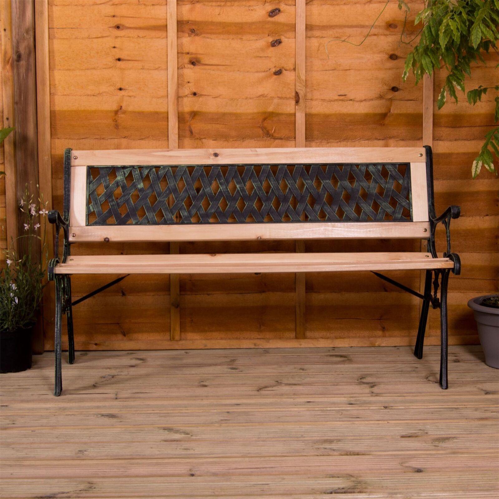 Panca da giardino 3 posti in legno in ghisa per esterni da giardino sedia poltrona mobili Cross