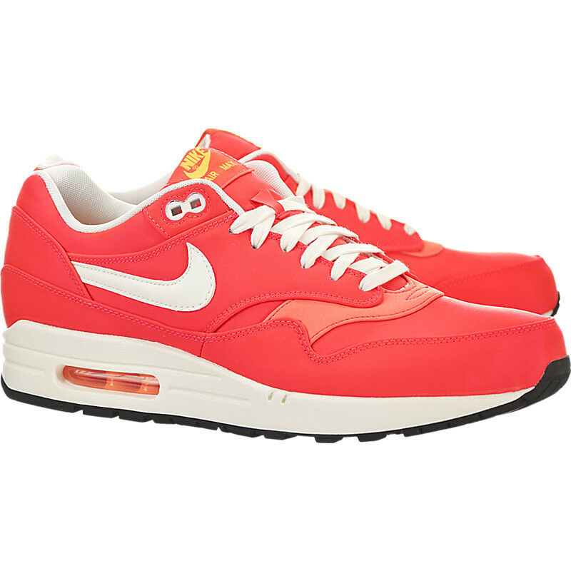 The latest discount shoes for men and women Nike Air Max 1 Premium QS Hyper Punch Ivory Total Orange Men's 665873-600