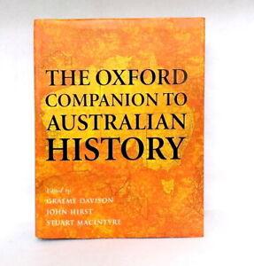 The Oxford Companion to Australian History ed Davison Hirst MacIntyre like new