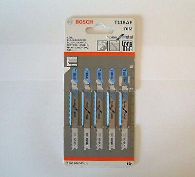 25 blades 2608634505 5 packs of 5 BOSCH T118AF Jigsaw Blades