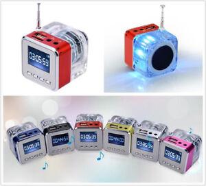 5 colors - Mini Speaker LCD HiFi Music MP3/4 Player TF Card USB Disk FM Radio