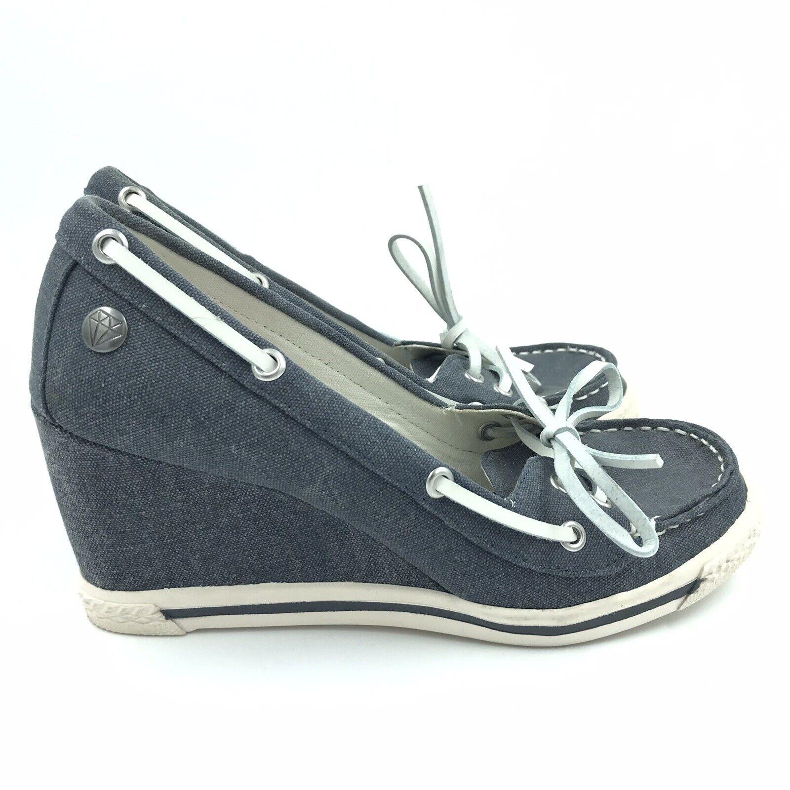 Rock & CANDY par Zigi Femme chaussures Sz 9 hommega Wedge Denim Toile bleu Unique