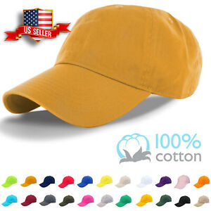 Cotton-Cap-Baseball-Caps-Adjustable-Solid-Dad-Hat-Polo-Style-Washed-Curved-Visor