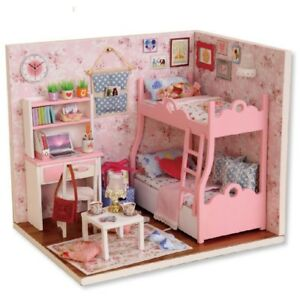 Wooden-Doll-House-Toy-s-With-Furnitures-Assembling-DIY-Miniature-Model-Kit-Child
