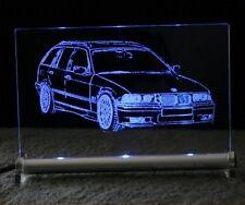 BMW E36 touring 3er als AutoGravur auf LED Leuchtschild