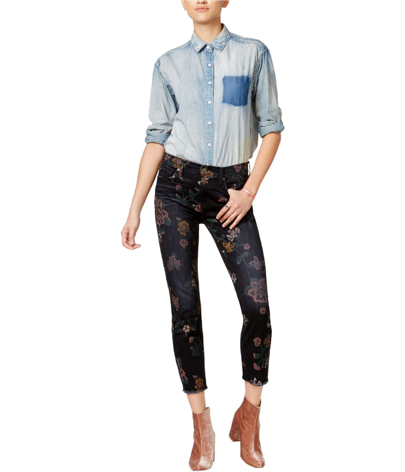 7 For All ManKind Womens Roxanne Skinny Fit Jeans prnr 26x28 - Juniors