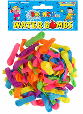 120 Neon Water Balloons - Bombs Summer Party Fun Toys Bag