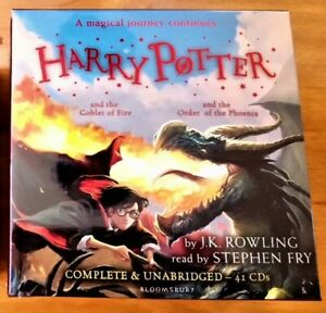 HARRY-POTTER-AUDIO-BOOKS-4-5-J-K-ROWLING-STEPHEN-FRY-UNABRIDGED-41-CD-RRP-159