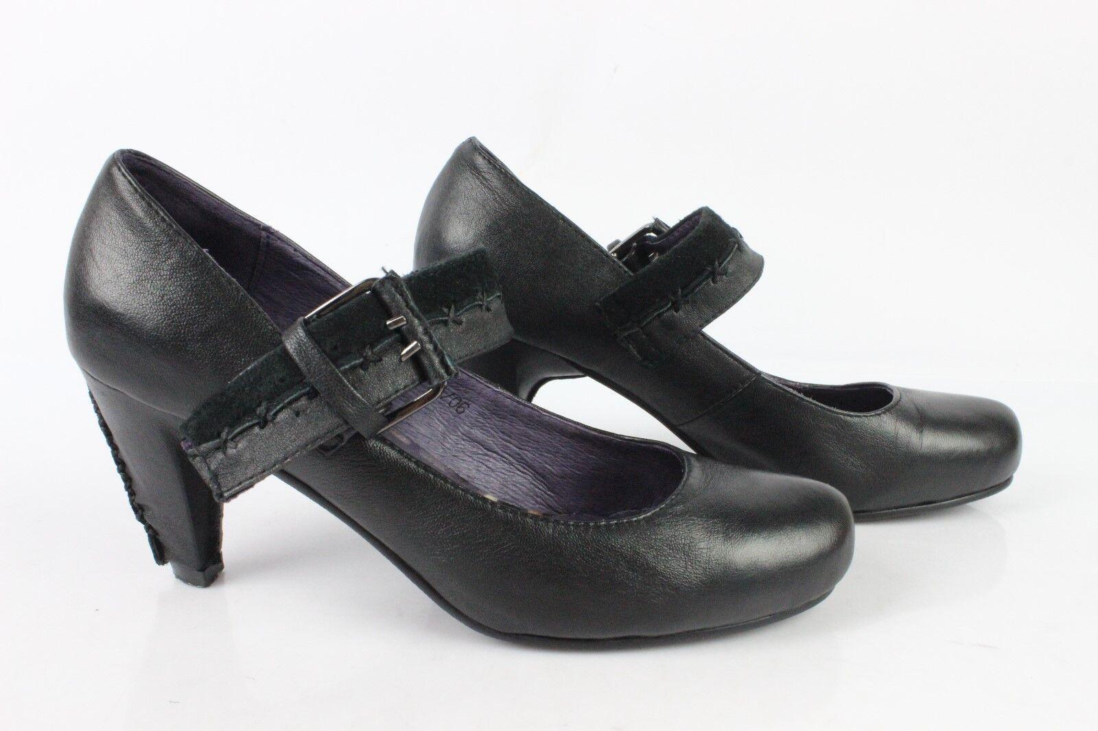 Escarpins à Brides color POURPRE Cuir black T 37 TRES BON ETAT