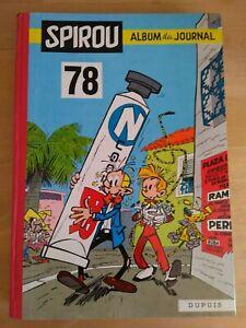 Le-Journal-de-Spirou-Album-N-78-reliure-editeur-Dupuis-1960