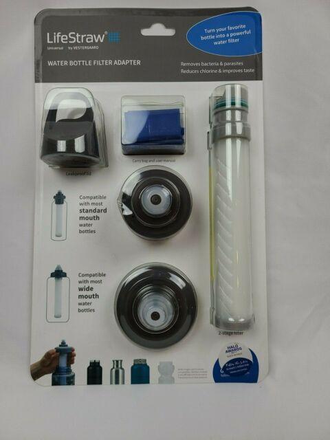 LifeStraw by Vestergaard Universal White Water Bottle Filter Adapter New