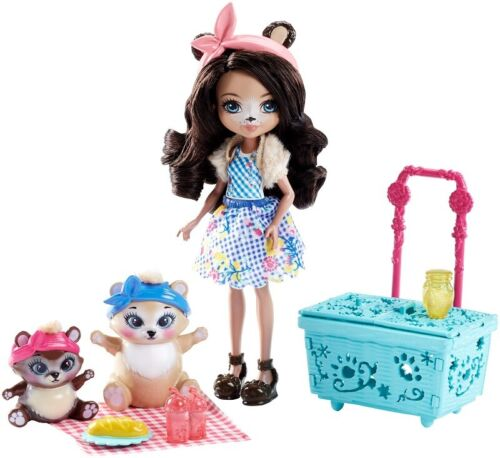 ENCHANTIMALS PAWS FOR A PICNIC DOLL SET *DISTRESSED PKG*