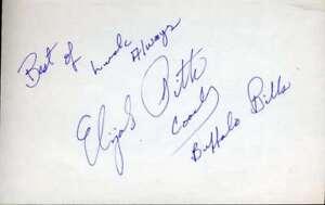 Elijah Pitts Psa Dna Coa Autograph 5x7 Index Card Hand Signed Authentic
