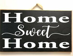 Details About Home Sweet Sign Wood Farmhouse Style 7 X 11 Inches Wall Decor Housewarming