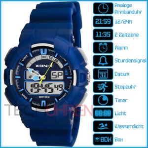XONIX-XK1L2H-4-Herren-Damen-Unisex-Kinder-Jungen-Sportlich-Armbanduhr-100m-BO
