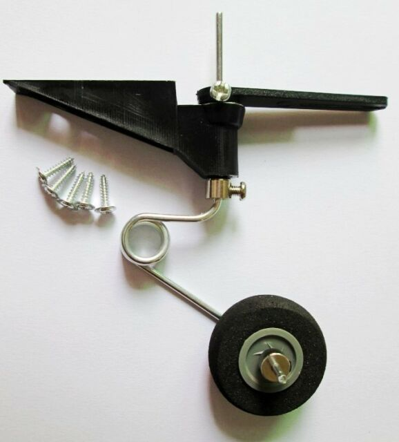 60-120 Class Fixed wing airplane Tail landing gear bracket set with wheel 30mm