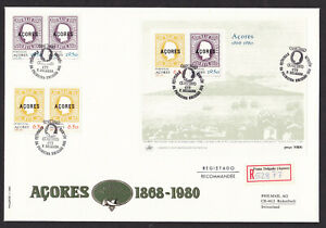 Portugal-Azores-1980-Acores-Overprint-Registered-FDC-First-Day-Cover