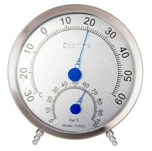 5 PCS ODATIME TH602 Stainless Steel Temperature Humidity Hygrometer Gauge Type 1