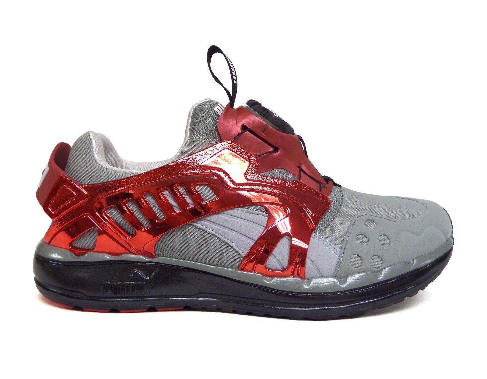 Puma Men's FUTURE DISC LITE TECH'D OUT Shoes Grey/Red 356389-03 a1