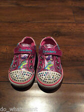 Skechers Girls Twinkle Toe Pink Trainers -Size 5 (21.5 eur)