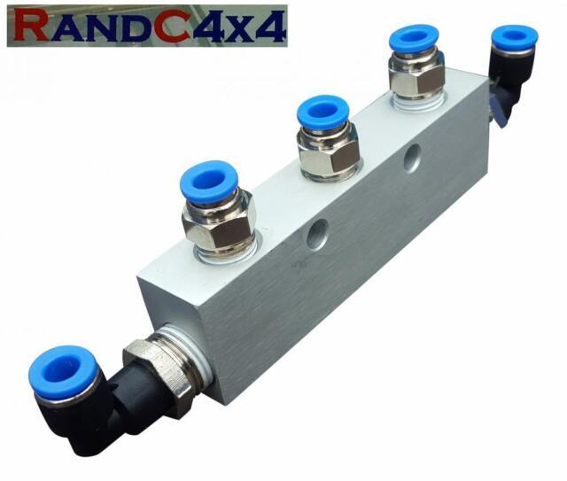 5 En 1 Deluxe Aluminio vadeando Kit Respirador Colector Para Snorkel