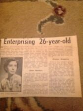 Ephemera 1958 Leicester Article Vera Barlow Melton Road Gipson Clarke  M47