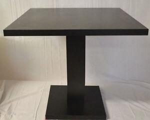Tavolo pranzo giove q 60x60 legno nero bar ristorante for Tavolo cucina nero