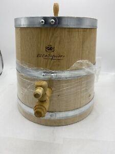 Wood-Oak-Timber-Wine-Barrel-Whiskey-Rum-Port-Keg-W-tap-Montesquieu-Metal-Straps