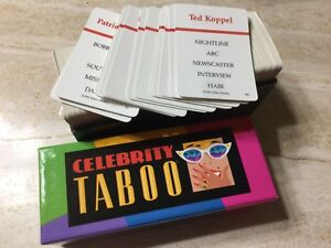 Akcesoria do gier Celebrity Taboo 1991 edition replacement game piece Zabawki qty 50 cards