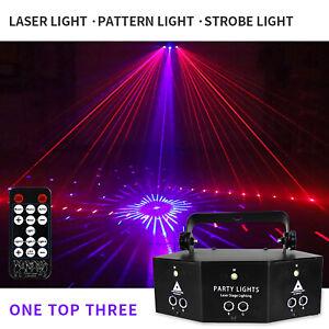 12 Muster Lichteffekt RGB LED Laser Projektor Disco Party Bühnenbeleuchtung DHL