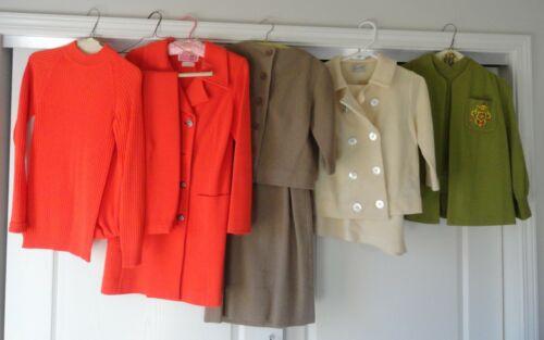 9 PC Ladies Vintage Clothing 1960's Pant Suit Dres