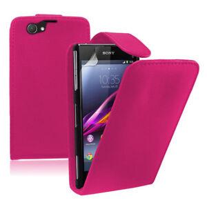 Similicuir-Mobile-Housse-de-Protection-avec-Rabat-pour-Sony-Xperia-Z1-Compact