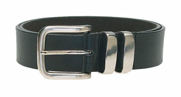 Duke London Doppel Metall Schlaufe Modischer Gürtel 3.5CM Breite, Taille Größe