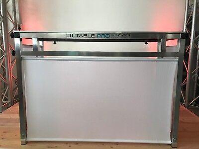 """Motiviert Dj Tisch, Show Table """"dj Table Pro 3"""" 130 X 60 Cm Tischfläche / Stoff Weiß"""