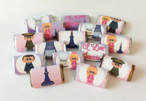 50 I DREAM OF JEANIE MINI CANDY BAR WRAPPERS FOR PARTY FAVORS SMALL GIFT