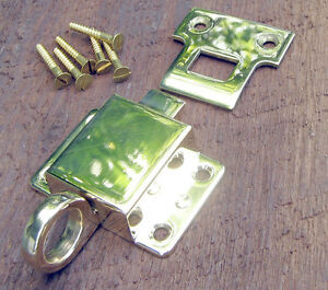 Solid Brass Transom Window Latch Polished Brass and Lacquer Free