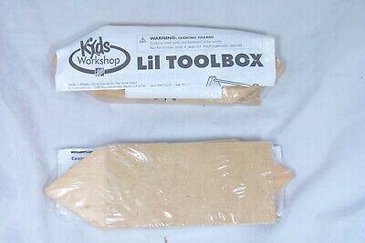 Home Depot Kids/' Workshop Lil Toolbox Kit Build Wooden Craft Kit New Sealed