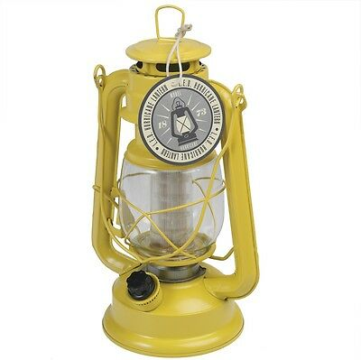 dotcomgiftshop YELLOW LED BATTERY POWERED HURRICANE LAMP