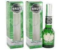 2 X Brut By Faberge Cologne Spray (original-glass Bottle) 3 Oz For Men