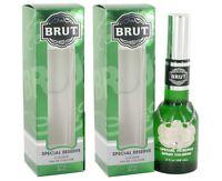 2 X Brut By Faberge Cologne Spray (original-glass Bottle) 3 Oz For Men