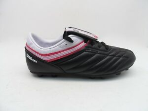 Wilson Women s or Girl s Athletic Soccer Sport Cleats Black Pink  30a0ecc70