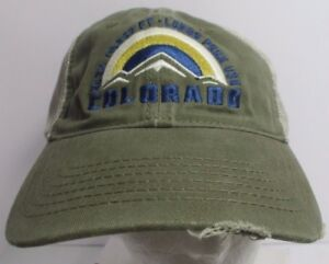Image is loading Colorado-Mountains-Hat-Cap-Snapback-Trucker-Distressed- Faded- 51c4eacf43e