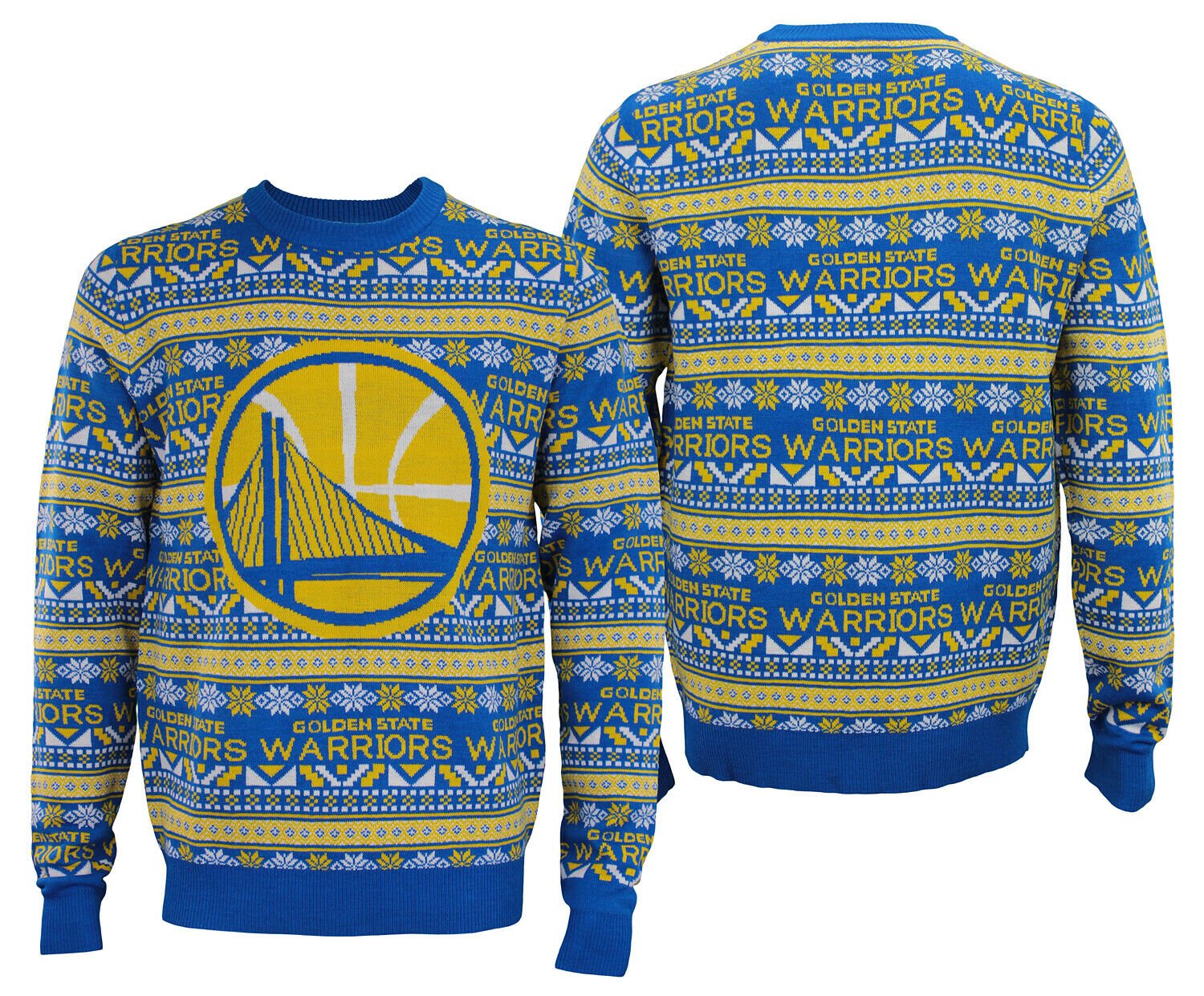 Forever Collectibles NBA Men's golden State Warriors Aztec Ugly Sweater