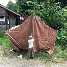 Vintage 10X8 VAGABOND TENT, CANVAS NICE Clean CONDITION glamping springbar