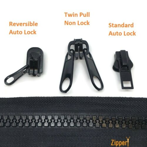 Chunky Plastic Continuous #10 Zipper Marine use Twin Reversible sliders