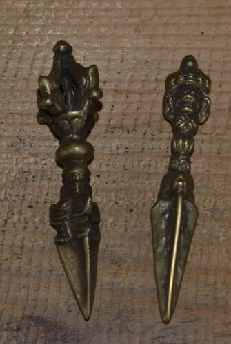 2 Phurbas Small, Magical used for Tantric Meditation Hand Made Nepal.