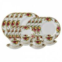 Royal Albert Old Country Roses 20 Piece Dinnerware Set Place Setting For 4