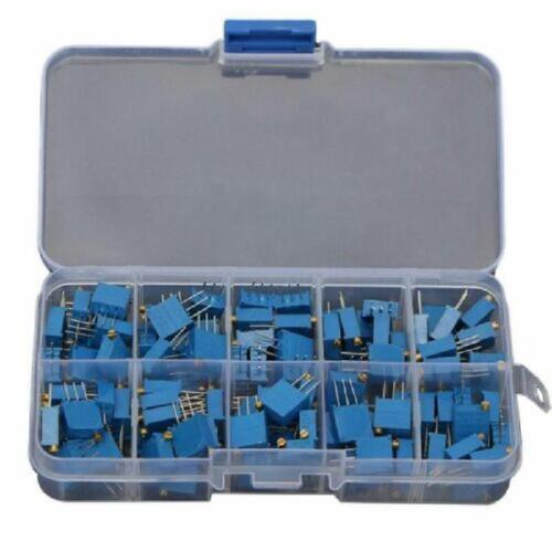 100Ω-1MΩ Trimming Resistor Potentiometer Adjustment Assortment Value Resistor