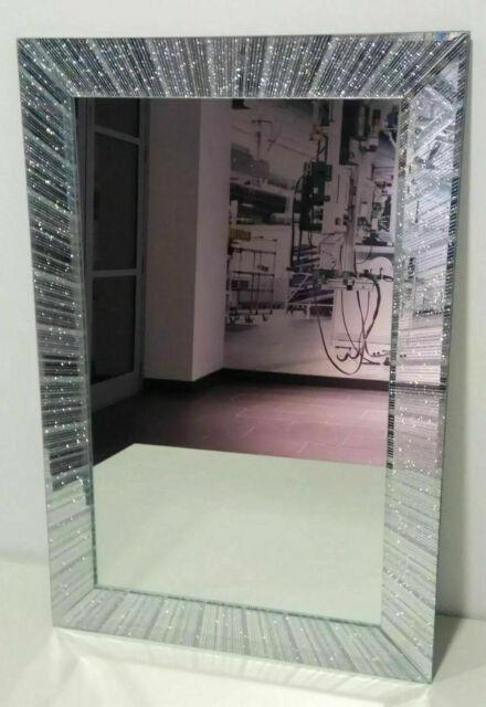 Glitter Frame Mirror Wall Hanging, 40 X 60cm Mirror